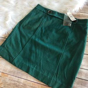 LOFT Ann Taylor Green Skirt! NWT!